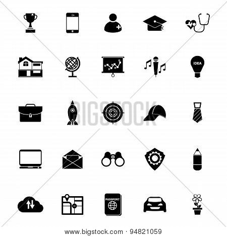 Job Description Icons On White Background