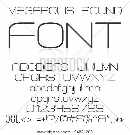 Trendy modern elegant font alphabet