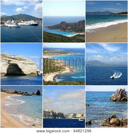 Collage Of Corsica, France
