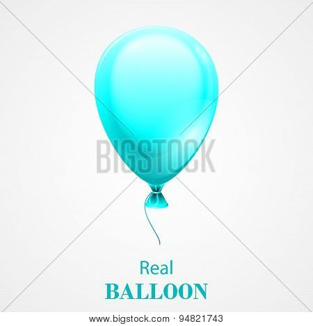 Festive Balloon isolated on white background.