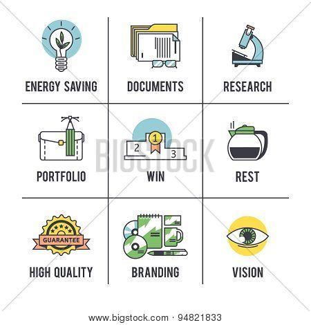 The business concept set.