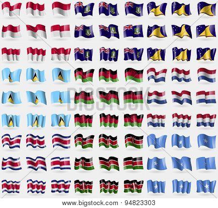 Indonesia, Virginislandsuk, Tokelau, Saint Lucia, Malawi, Netherlands, Costa Rica, Kenya, Somalia. B