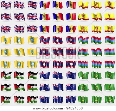 United Kingdom, Moldova, Chuvashia, Kalmykia, Laos, Karelia, Western Sahara, New Zeland, Mauritania.