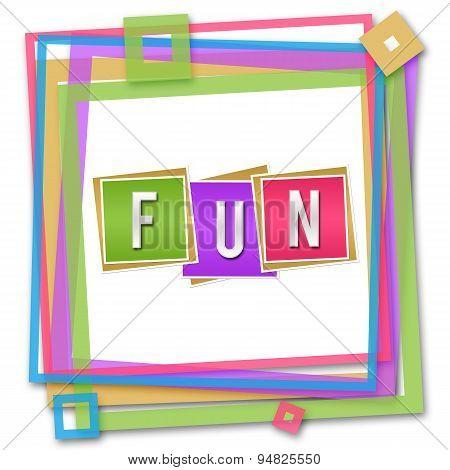 Fun Blocks Colorful Frame