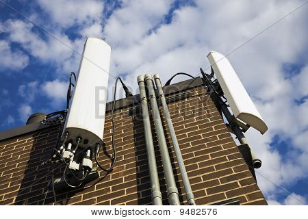 Cellular Antennas Installed On The Building