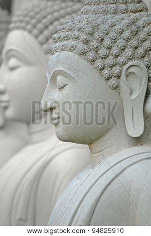 Limestone Buddhist State In Wat Pha Sawang Boon Nakornnayok Thai