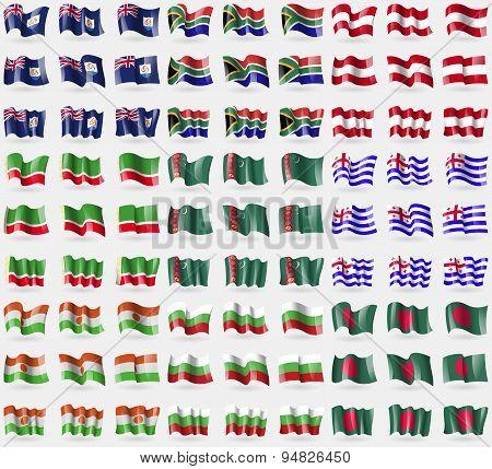 Anguilla, South Africa, Austria, Chechen Republic, Turkmenistan, Ajaria, Niger, Bulgaria, Bangladesh