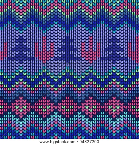 Seamless Knitted Background Knitted Pattern