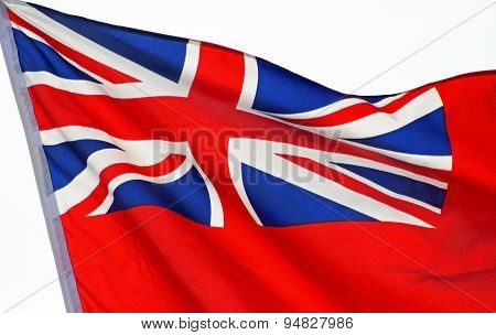 Union Jack flag waving proudly in the breeze