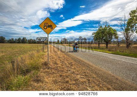Tractors crossing