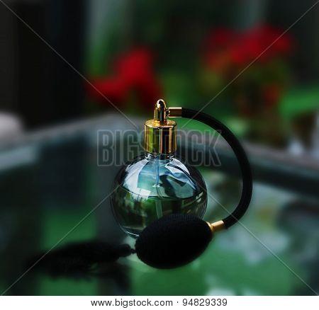 Black Bottle Of Perfume
