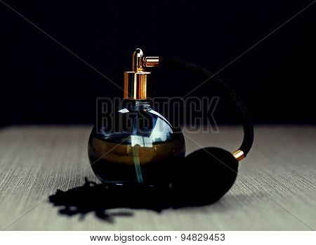 Black Bottle Of Perfume