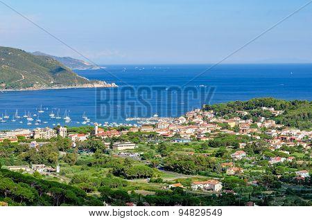 Isola D'elba, Marina Di Campo (italy) View From Sant'ilario