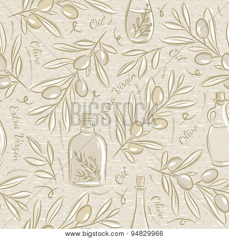 Seamless Patterns With Olive