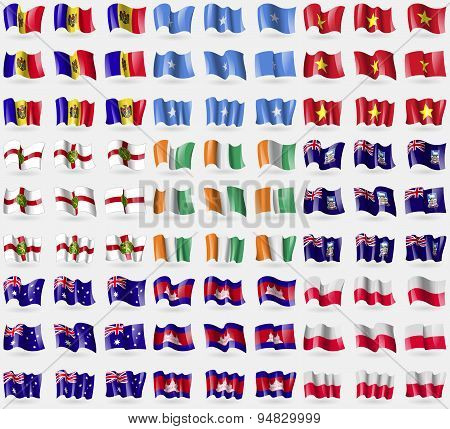 Moldova, Somalia, Vietnam, Alderney, Cote D'ivoire,  Falkland Islands, Australia, Cambodia, Pola
