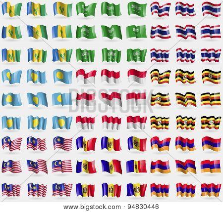 Saint Vincent And Grenadines, Saudi Arabia, Thailand, Palau, Monaco, Uganda, Malaysia, Moldova, Arme