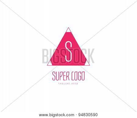 Abstract vector logo elements. Stock illustration for design
