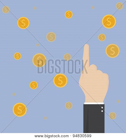 Business Success Concept Background. Business Concept Flat Illustration.