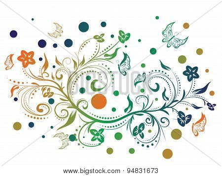 Colorful Floral Ornament