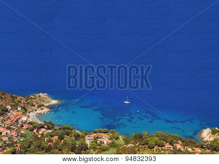 Sant Andrea Bay Elba And Blue Ocean
