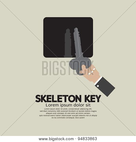 Skeleton Key In Hand.