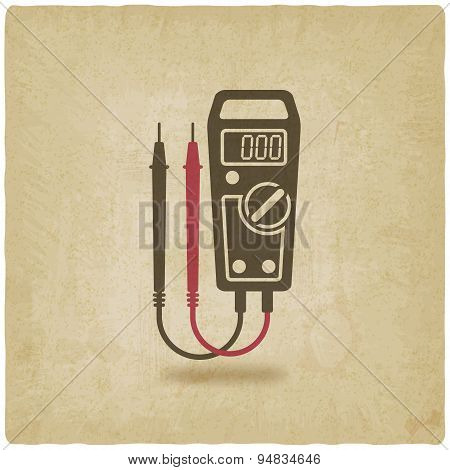 Digital Multimeter Symbol Old Background