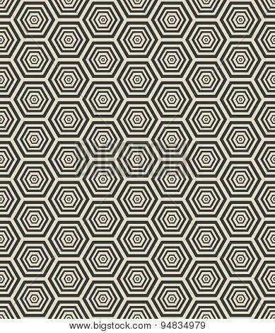 hexagon geometric seamless pattern