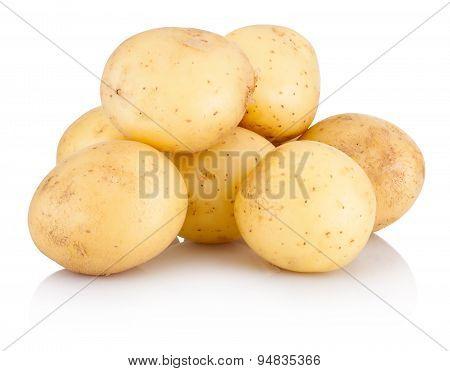 New Potato Isolated On White Background