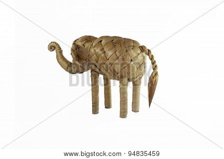 elephant figure toy weave from weed.
