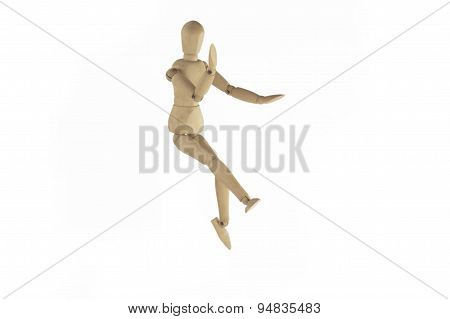 Wooden figure waver.