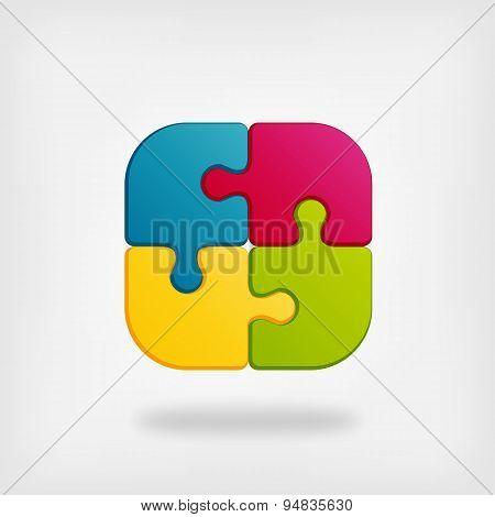 color puzzle creative symbol