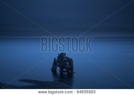 Hvitserkur At Night