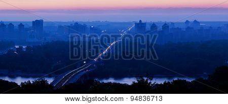 Sunrise over Kiev. Ukraine