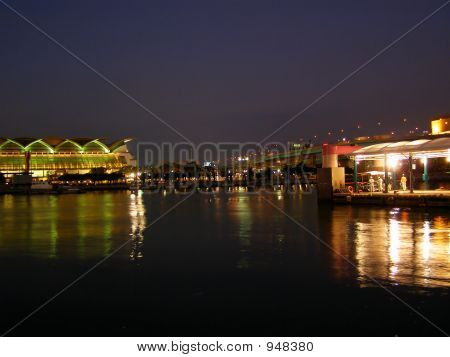 Nightime At The Port
