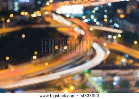 City highway, defocused background
