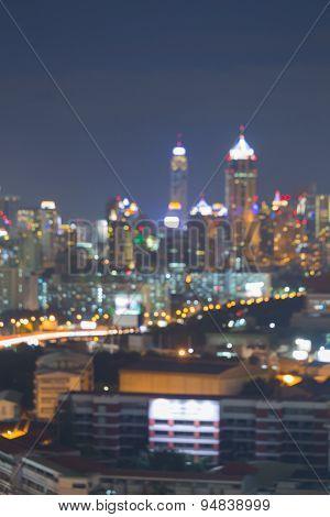 Abstract city night light bokeh , defocused background