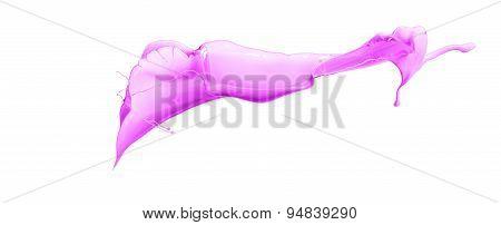 Isolated Pink Splash