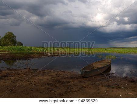 Biebrza river boat.