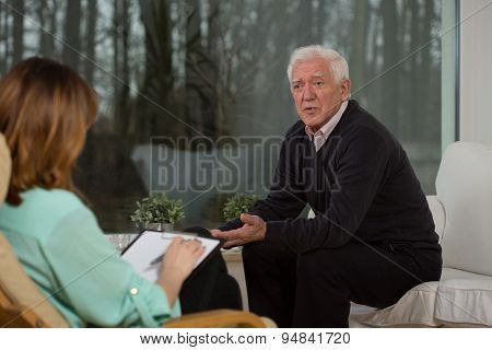 Retiree Talking About His Problems