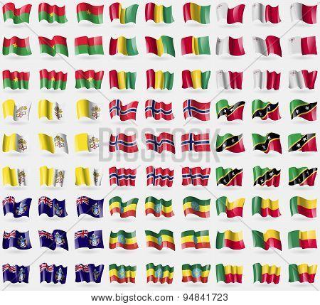 Burkia Faso, Guinea, Malta, Vatican Cityholy See, Norway, Saint Kitts And Nevis, Tristan Da Cunha, E