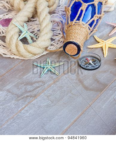 compass on fishing net