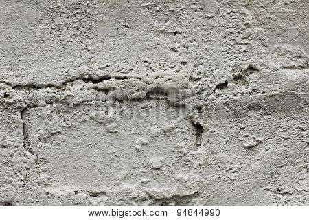 Old Plastered Brick Wall. Grungy Texture.
