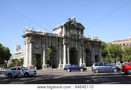 Alcala Gate In Madrid