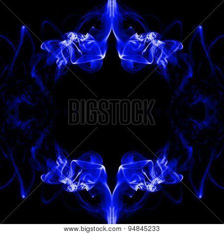Blue Frame Made Of Smoke