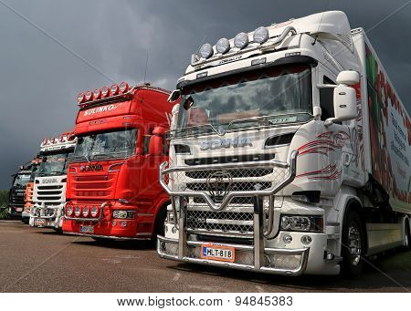 Scania Trucks At Riverside Truck Meeting 2015