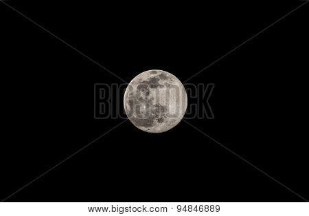 Full moon as seen on July 1st 2015 from Bangalore, India