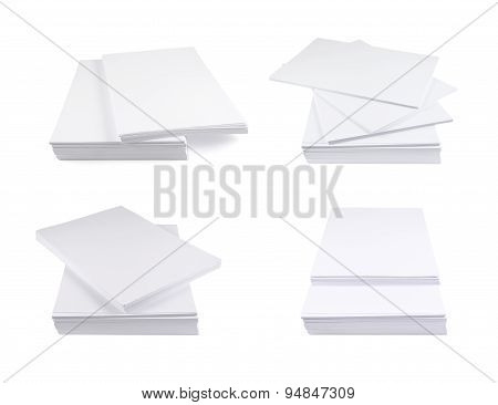 Stack of a4 size white paper sheet