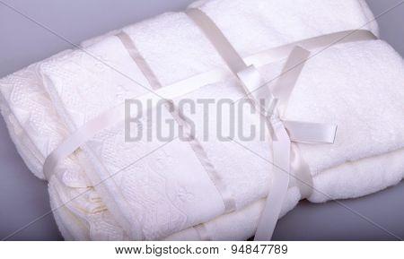 White Bathroom Towel