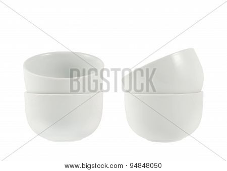 Two piola bowl pile isolated