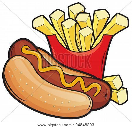 Hotdogs and frenchfries